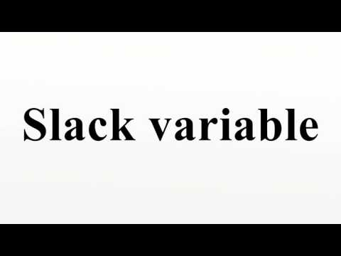 Slack variable