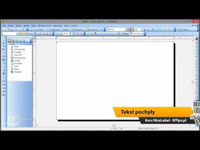 Kurs NiceLabel 02 - interface i narzedzia