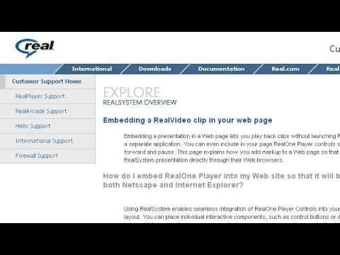 How-To Embed An SMIL With Realplayer