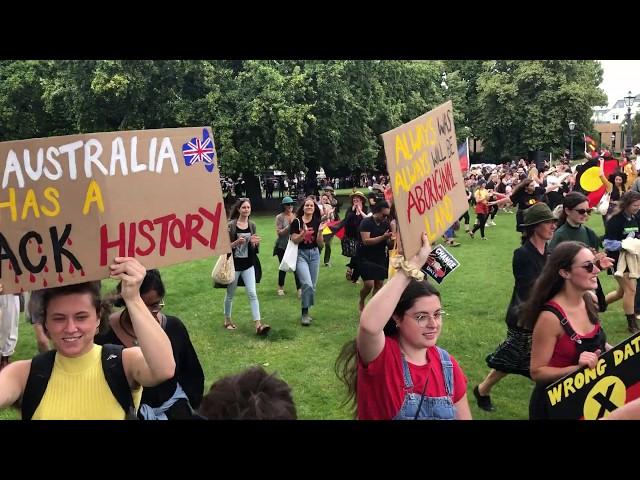 Dance circle at invasion day rally, nipaluna/Hobart #InvasionDay2020