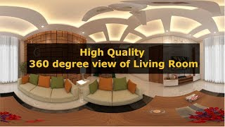 High Quality 360 degree view of living room | Buildon Ideas