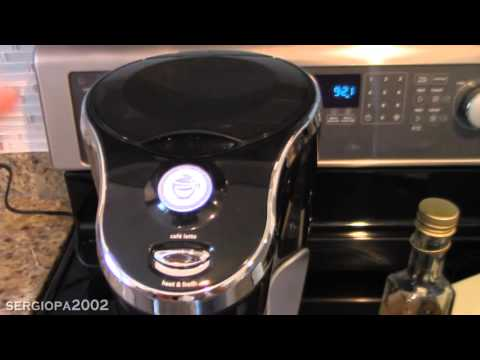 Making a Cafe Latte at home using Mr. Coffee machine BVMC-EL1