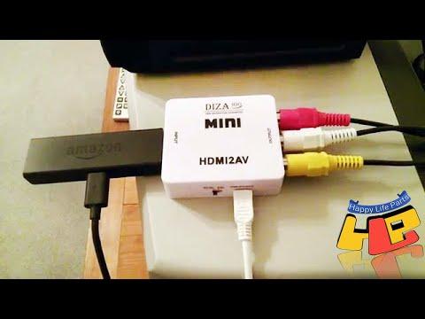 HDMI AV How To Connect MXQ PRO 4k To OLD TV LED TV HDTV