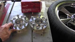 HOW TO INSTALL WHEEL SPACERS ON YOUR 1994 2012 MUSTANG