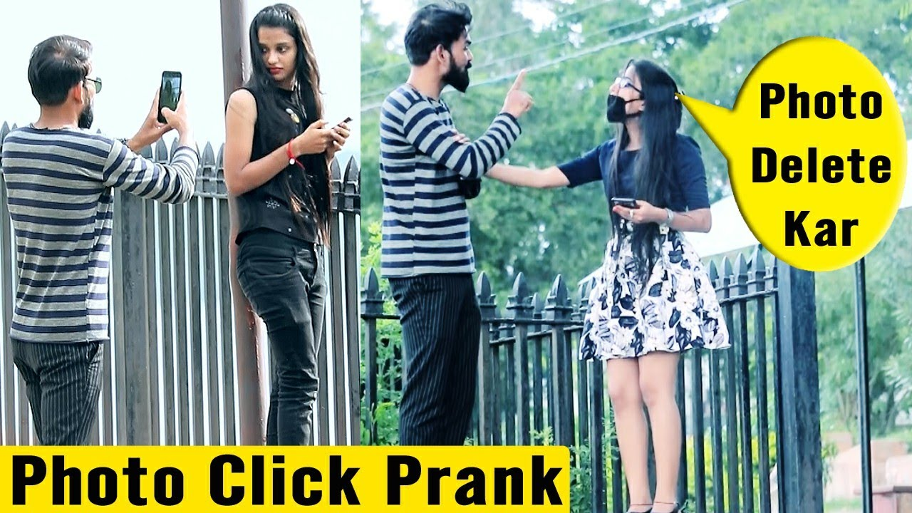 Clicking Cute Girl's Photo Prank | Prank Rush | Pranks in India