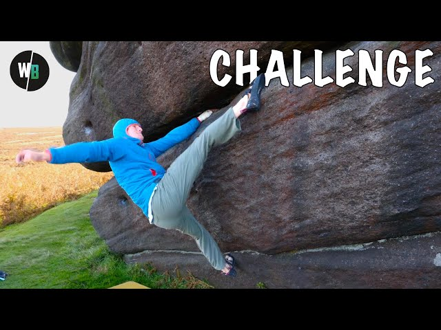 Is This Steep Boulder Problem Possible One Handed?