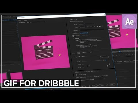 GIF Render For Dirbbble in Adobe Premiere Pro Tutorial thumbnail
