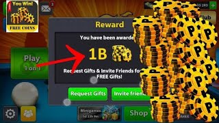 8 BALL POOL FREE Get 1 Billion Coins...TRICK Nov 2018 !!! GET BEFORE IT PATCHED