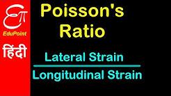 Poisson's Ratio   Video in HINDI   EduPoint