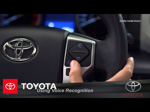 Toyota Entune L Using Voice Recognition | Toyota