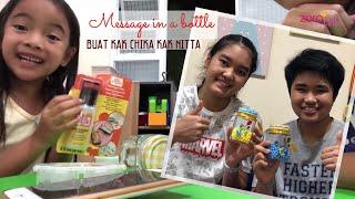 Bikin Message in a Bottle | Cara Zara Cute mendukung Pekerjaan Papa | Maju Terus Badminton Indonesia