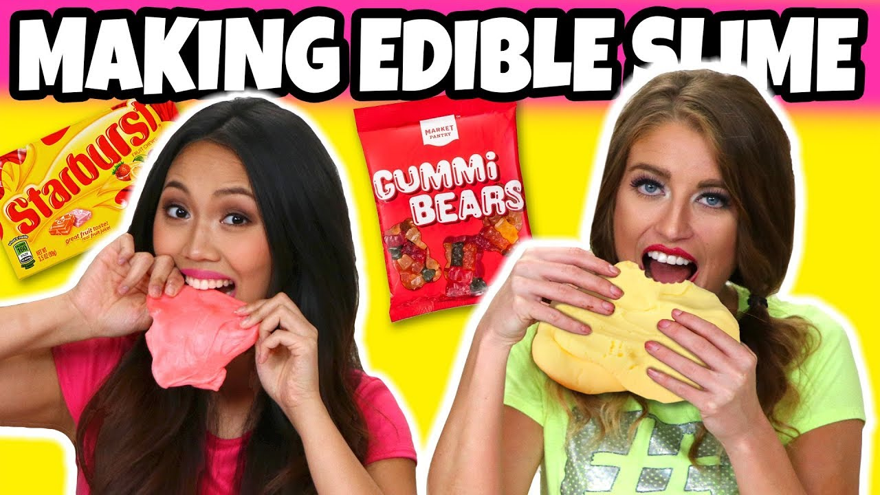 how-to-make-edible-slime-with-starburst-nutella-pudding-and-gummy-bears-totally-tv