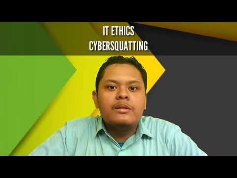 IT ETHICS - CYBERSQUATTING