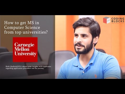 Know everything about MS in CS! Rishi, Carnegie Mellon Unive