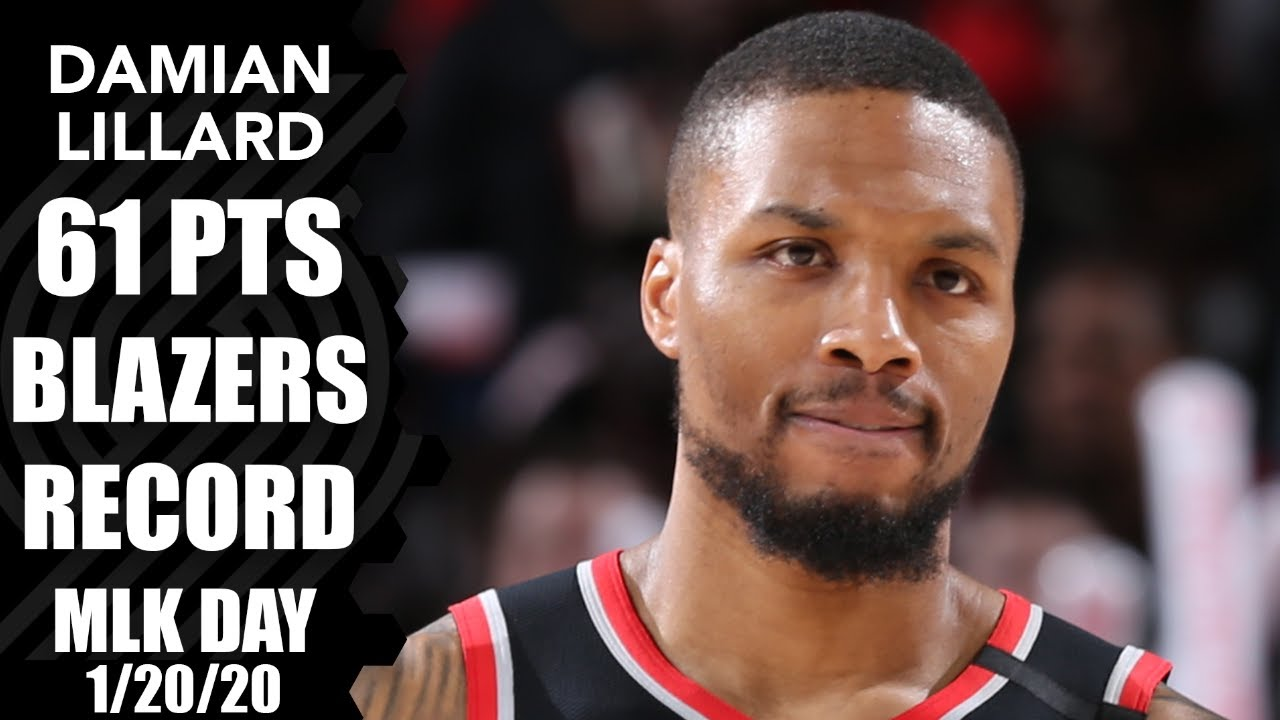 Damian Lillard erupts for 61 points to set MLK Day, Blazers record | 2019-20 NBA Highlights