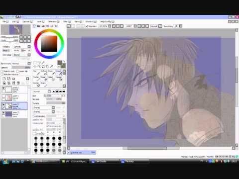 Digital Manga Drawing Paint Tool Sai Youtube
