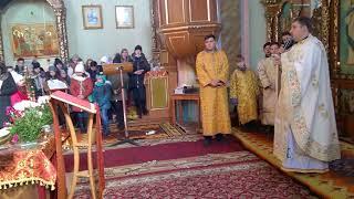 Подячна Служба Божа о. Миколая Добруцького (м. Глиняни, 4 березня 2018 року)