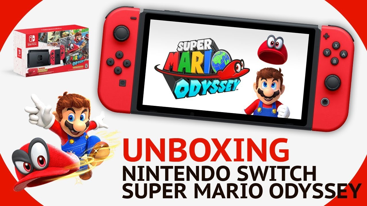 Nintendo Switch Edition Limitee Super Mario Odyssey Bundle 2017 Unboxing Test Fr