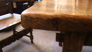 Antique Elm farmhouse kitchen table