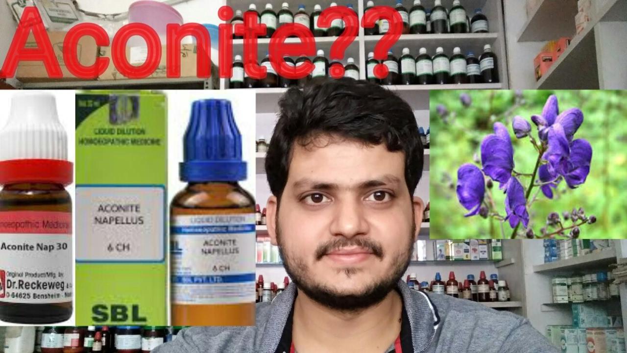 ACONITE NAPELLUS!! Homeopathic medicine?explain!