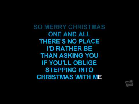 Step Into Christmas in the style of Elton John karaoke video with lyrics