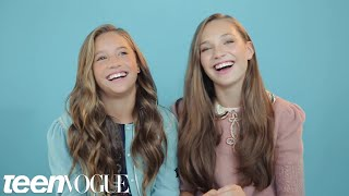 Maddie and Mackenzie Ziegler Share the Sweetest Sister Moment You