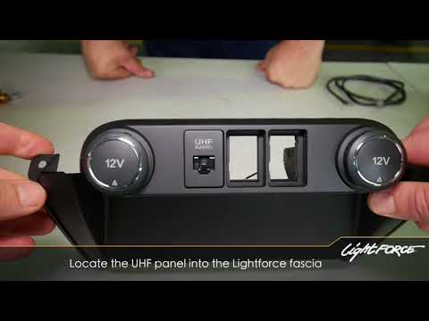 OEM Style Switch Fascia - To Suit Ford Ranger PX MK2, PX3  & Everest Models.  Installation