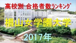 椙山女学園大学 高校別合格者数ランキング 2017年【グラフでわかる】 thumbnail