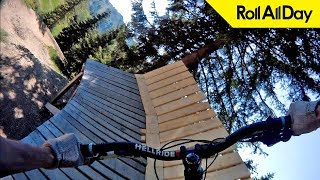 «Велосипедный рай» — Обзор черной прыжковой трассы Les Gets Jump Park от Roll All Day