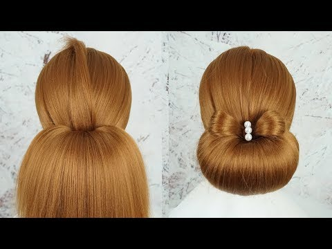 New Bun Hairstyle For Wedding Function 2019 -  Quick Hairstyles   Simple Hairstyle For Party
