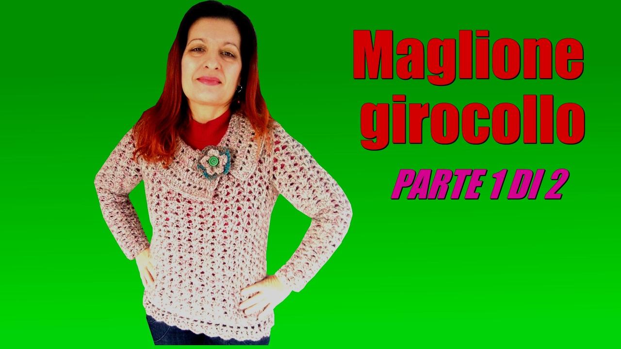 Maglione Girocollo O Collo Piatto Alluncinetto Tutte Le Taglie