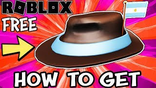 [NEW FREE ITEM] International Fedora - Argentina (Roblox) - Link in Description
