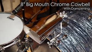 "MEINL Percussion - 8"" Big Mouth Chrome Cowbell - STB80B-CH"