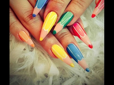 Nail Art Model Creion Pas Cu Pas Youtube