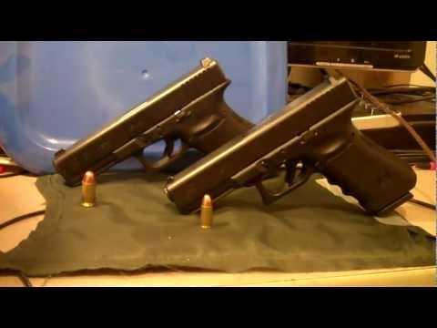 Glock 17 (9mm) Vs Glock 21 (.45 ACP) Shooting Review