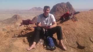 Climbing Pontok Spitz, Spitzkoppe, Namibia
