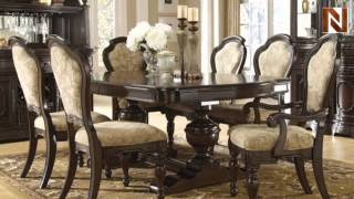 Pulaski Cassara Dining Table Complete 5182+40+41