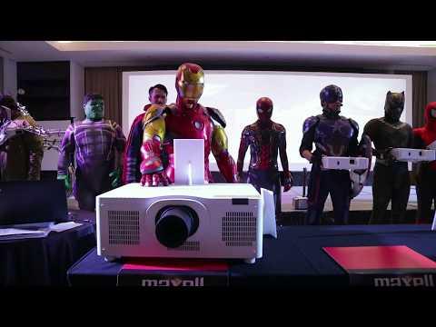 Launching Maxell Projector Diserbu Avengers!