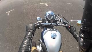 Kawasaki W650 mountain ride
