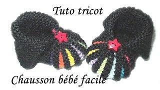 comment tricoter chausson bébé facile