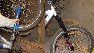 Замена передней вилки велосипеда, как снять. Рулевая колонка 1 1/8