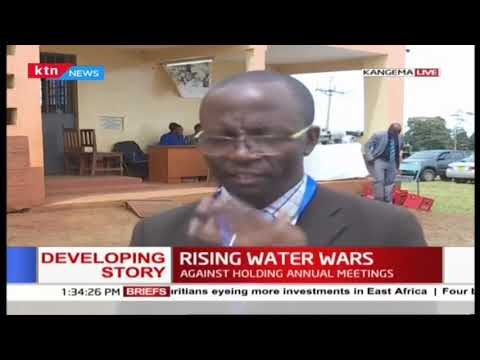Kahuti water compay has defied order by Govenor Wa Iria\' call to agaist holding their annual meeting