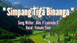 Download Karaoke Lagu Karo - Simpang Tiga Binanga - Patam Salih Mp3