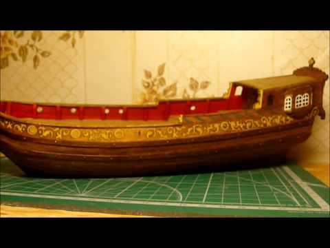 видео: Голландская яхта d'orо. Сборка модели. Часть 7.