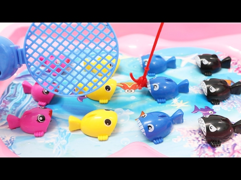 Thumbnail: Learn Colors & Counting for Children Toddlers Babies Fishing Game Toy Learning Video for Kids