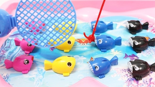 Learn Colors & Counting for Children Toddlers Babies Fishing Game Toy Learning for Kids