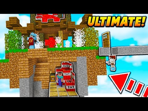 ULTIMATE TROLL ISLAND! - Minecraft SKYWARS TROLLING (5 TRAPS ON 1 ISLAND!)