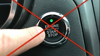 What happens if you push the button WHILE driving ? ( Don