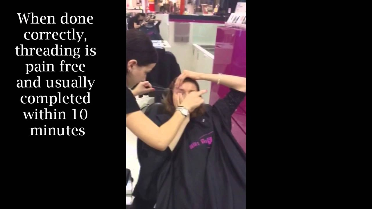 What Is Eyebrow Threading And How Does It Work Youtube