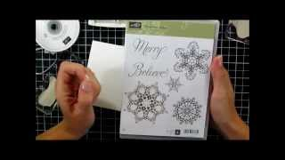 Snowflake Soiree One Layer Card Stampin